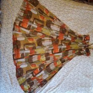 Retro vintage flowy maxi dress